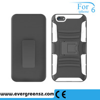 Scratch-resistant TPU PU Case Hard Cover Case For iPhone 6 Silicone Protective Skin Double Case