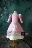 19 2014 long sleeve princess flower girl dresses for weddings girls pageant dresses prom dress children custom made