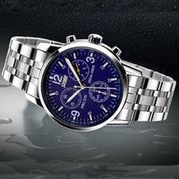 SKMEI Unisex Stainless Steel Casual Men Sports Watches Waterproof Wrist Watch Digital Quartz Wrist Watch Military Wristwatches