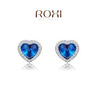 free shipping  sapphire jewelry earrings ROXI Gift earrings