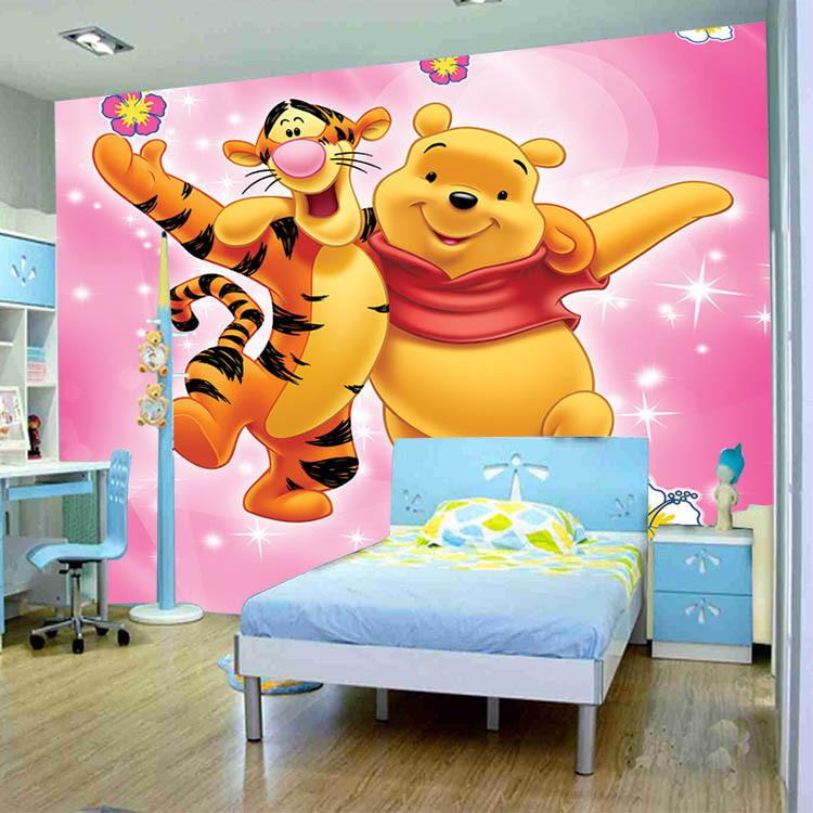 winnie the pooh photo murals 3d wallpaper tapete room. Black Bedroom Furniture Sets. Home Design Ideas