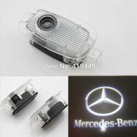 2 PCS LED Car Door Step Courtesy Laser Logo Projector Light for Mercedes-Benz S-Class