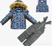 high quality boys winter Clothing Set baby boy ski Suit kids Windproof down Jackets set children boy winter coat sets