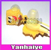 Lovely Cute Cartoon headphones Care SpongeBob SquarePants cute earphone   Free Shipping