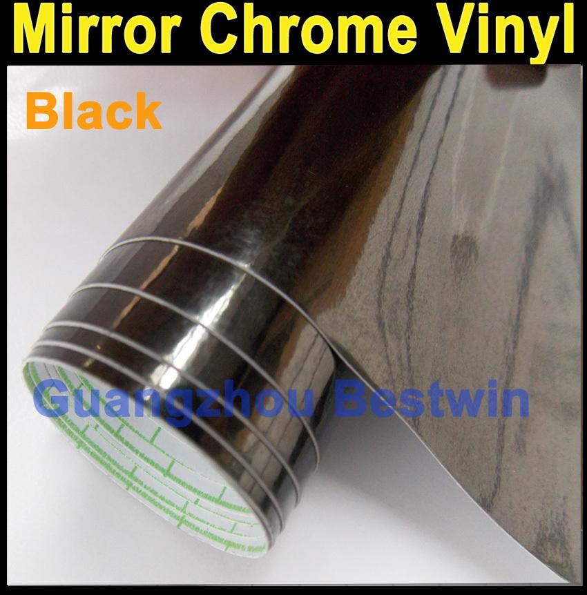 Free shipping High quality car wrap vinyl Car Sticker car decoration film 1.52m*20cm Mirror Chrome with bubble free BW 3010(China (Mainland))