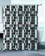 Peva preto / branco da manta impermeável engrosse cortinas de chuveiro cortinas de banheiro 180 cm * 180 cm(China (Mainland))