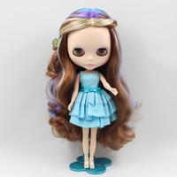 Free Shipping hot sale TB-407 Nude  doll lovely DIY toy birthday gift for girls fashion 4 big eyes dolls beautiful Hair