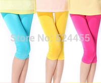 2014 New Fashion Summer Slim Elastic Cotton Capris Short Pants Trousers 2Pcs/Lot  Free Shipping