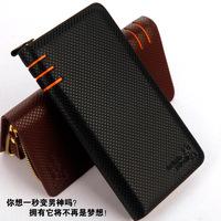 2014 brand men's wallet Business zipper hand caught bags for men dot Phone bag black coffee purse free shipping