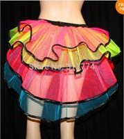 whole sale Sexy Layered Ruffle Mini Tutu Skirt Burlesque Petticoats Clubwear Dance Ball Gown S009