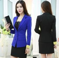 New 2014 Femininos Fashion Slim Autumn Winter Uniform Style Office Ladies Work Wear Uniforms Blazers Suits With Mini Skirt S-3XL