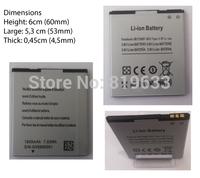 2pcs Original Android Phone Capacity 1800Mah Battery For 4.5inch M Pai Mini 809T MTK6582 Original Phone Battery Free shipping