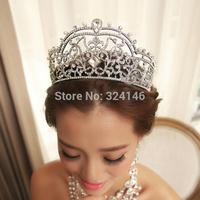 European style princess big bridal tiaras noble crystal wedding crown wedding dress hair accessories Miss beauty hair crown