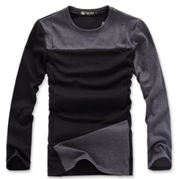 Hot sale free shipping men long sleeve t shirt o-neck casual slim fit high quality man t-shirts one color M-4XL