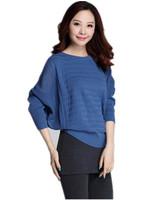 Free Shipping New Women 2014 Batwing Sleeve  Plus Size Long sleeve Pullovers, women women knitwear sweater :  XL XXL XXXL