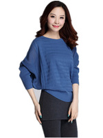 Free Shipping New Women 2015 Batwing Sleeve  Plus Size Long sleeve Pullovers, women women knitwear sweater :  XL XXL XXXL
