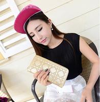 2014 New Wallet Women Rivet Wallets Clutch Purse Pu Leather Female Wallet Design Brand Carteras Feminina Ladies' Wallets