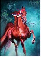 2014 new needlework diamond painting pasted painting full drill diamond painting fashion wall decorative horse  40*50
