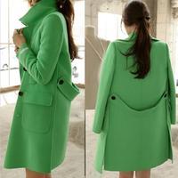 HOT-selling woolen coat 2014 Autumn and winter jacket Women's wool coat new long sections woolen coat British style
