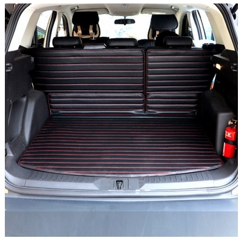Free shipping! Good & Special trunk mats for 2013 Ford Escape waterproof leather car mats! durable luggage mats for 2013 Kuga(China (Mainland))
