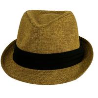 2014 Women'sTrilby Men Kids Cap Kingsize Plus Size Sun Hat Hemp Tea Party Christmas Gift fedora hat 7 Sizes Dark Brown