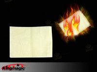 Wholesale 10pcs/lot Large Fire Paper(50*20cm) White Flash Paper Magic Tricks Magic Props Free shipping