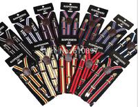 wholesale 2014New boy girl's Adjustable striped Suspenders baby Elasti Braces Kid Suspenders,Size 2.0*65 CM,12 colors,10 pcs/lot