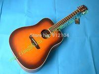 retail new high grade surface veneer acoustic guitar in sunburst color folk guitar+foam box+free shipping F-2003