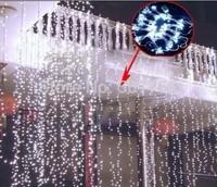10m*2m  lights flashing lane LED String lamps curtain Christmas home garden festival lights 110v-220v EU UK US AU