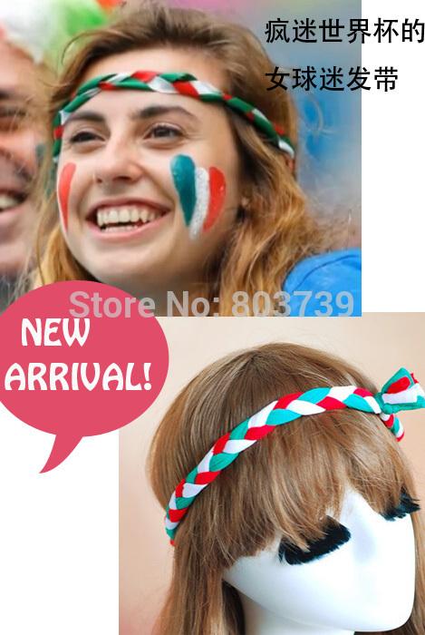 Bohemian Hair Accessories /Cheerleading Head Wear/Braid Head Wrap/Football Game Fans Hair Band/Elastic Head band(China (Mainland))