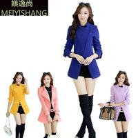 Cardigans Special Offer Wool Office Vest In The Autumn of 2014 New Women's Slim Code Woolen Coat Female Woollen Overcoat Winter