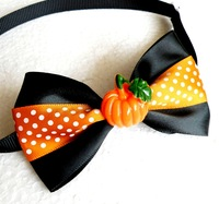 New Handmade Halloween Festival Pet Pumpkin Ties Adjustable Neckties For Dogs Puppy Tie Collar Bow Ties 50PC/Lot Free Shipping