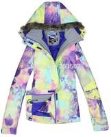 2014 gsou snow womens Symbol ski jakcet Gradient snowboarding jacket ladies violet yellow ski jacket skiwear waterproof 10K warm