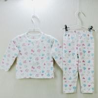 Baby Underwear For Girl Boy Training Clothing Suit Set 2014 Newborn Pajamas Long Sleeve 100 % Cotton Kids Wear  0-2T
