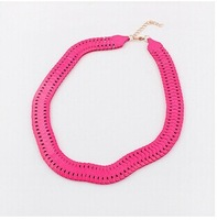 Personalized trend fluorescent colors necklace