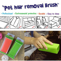 Free Shipping Professinal The Second Generation of Silicone Magic Pet Hair Removal Brush for long and short hair Pet Grooming