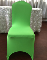 free shipping - top quality  LIME GREEN   spandex chair cover with arc  in th front