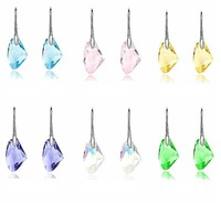 Water Drop Irregular Crystal Earrings Elements Austrian Crystal Dangle Drop Earrings