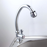 Retail - Luxury Brass Kitchen Faucet, Cold Water Sink Tap, Chrome Finish Kitchen Sink Tap, Free Shipping L15106