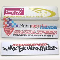 20pcs STI SPEED 3D aluminum Badges Emblem Metal-D023 100x26mm