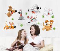 Happy Dog Removable Vinyl Kindergarten Nursery Kids Baby Child Bedroom Home Decor Art Mural DIY Wall Stickers Decal