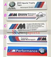 20pcs M 3D aluminum Badges Emblem Metal-D001 100x26mm