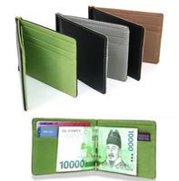 New South Korea MONEY CLIPS Men's wallet Multifunctional colourful Ultra-thin men purses orange&coffee&green size11.3*8.2*0.8