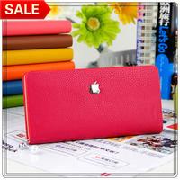 Hot 2014 New Fashion Women's Wallet PU Leather Pearl Slider Women Long Wallet Purse Clutch Wallet Coin Purse 11 Colors Wholesale