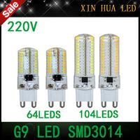 1Pcs  G9 SMD3014  LED Bulb 220V  6W 9W LED corn Lamp  led lampada light 360 Beam Angle Crystal Chandelier led spotlight lamps