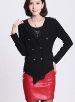 2014 Autumn Winter New Style Korean Slim blazers Female Knit Cardigan Sweater M0014 Free Shipping