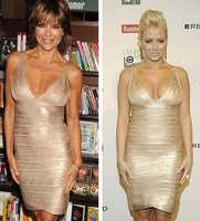 Women's fashion sexy nightclub dress thin hip Slim models backless bandage eveing party dresses RS-200