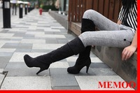 MEMOO 2014 Spring / Autumn Women Riding boots  sweet style elegant and comfortable matte leather round toe  Size 4-8 A8163