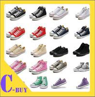 Hot sale canvas shoes 13 colors low&high style classic Canvas Shoes,Lace up women&men Sneakers,lovers shoes