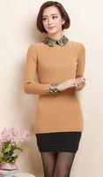 2014 New Style Autumn winter Female Long Slim Sweater Jackets Knit Shirt M0016 Free Shipping